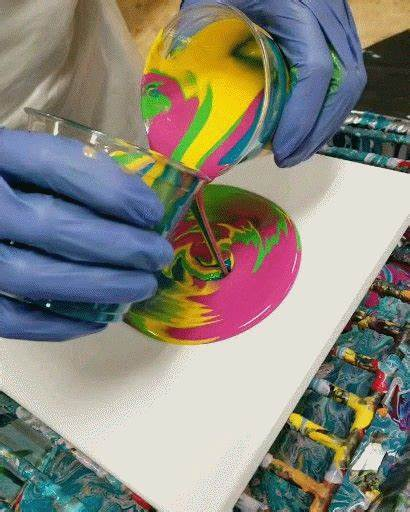 Painting Open Cup Acrylic Pouring Primal