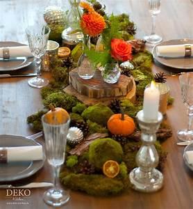 Holzscheiben Deko Hochzeit : dekoidee farbenpr chtige tischdeko in herbstt nen deko kitchen ~ Frokenaadalensverden.com Haus und Dekorationen