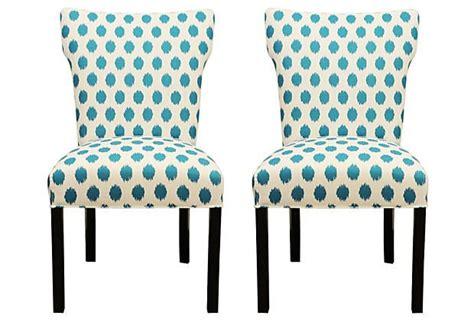 Turquoise Lauren Dining Chair, Pair On Onekingslane.com
