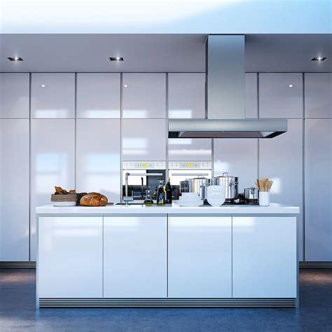 cuisine blanche avec ilot central cuisine avec îlot central ayant toute la