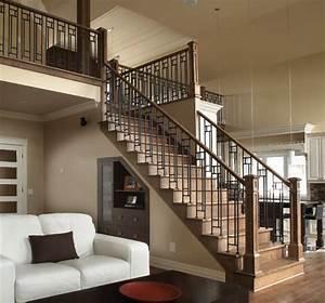 rampe d39escalier en bois wikiliafr With rampe escalier bois interieur