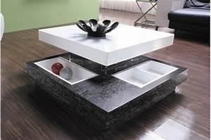 Table Basse Bois Pas Cher : table basse amovible en bois bicolore domino tables ~ Carolinahurricanesstore.com Idées de Décoration