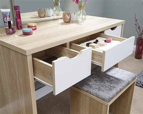 shabby chic dressing table set shabby chic contemporary elizabeth dressing table set in oak white for bedroom