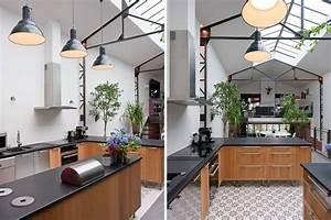 Cuisine Style Industriel Bois : cuisine entre style industriel et traditionnel ~ Teatrodelosmanantiales.com Idées de Décoration