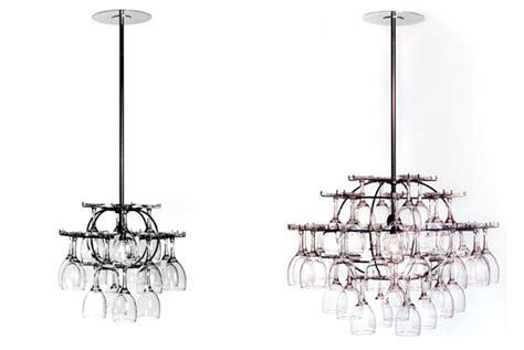 wine glass chandelier wine glass chandelier glasklasen