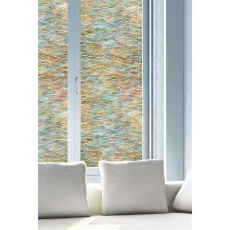 Artscape Montage Decorative Window by Artscape 24 In X 36 In Water Colors Decorative Window