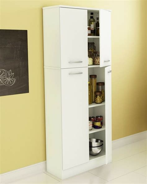 White Storage Cupboard With Doors by Food Pantry Cabinet White Doors Storage Kitchen