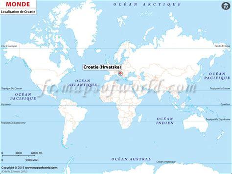 Carte Du Monde Croatie by O 249 Est Croatie Carte De Localisation De La Croatie