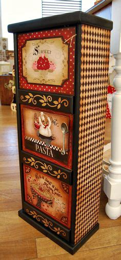 upcycled jewelry box wood french graphic decoupage