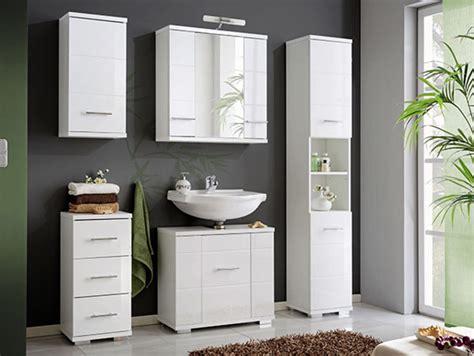 meuble sous lavabo bari blanc