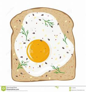 Fried Egg clipart egg sandwich - Pencil and in color fried ...