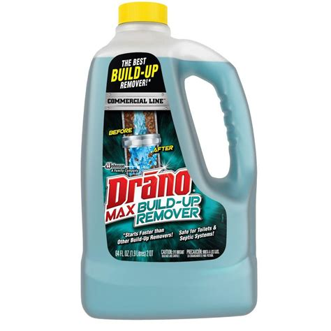 drano safe for sinks drano 64 oz build up remover 622182 the home depot