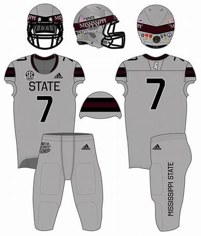 State Uniforms Mississippi Football Uniform History Alternate
