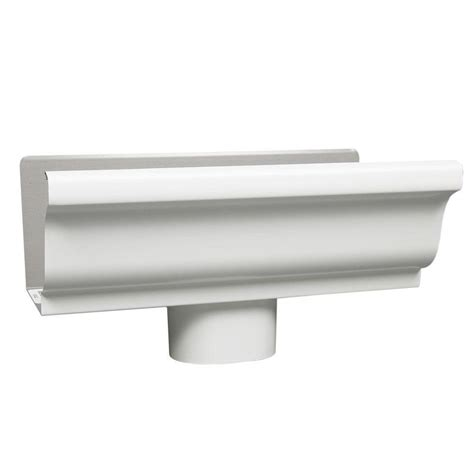 kitchen faucets at lowes amerimax home products 5 in white steel k style end with