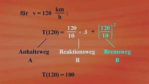 Geschwindigkeit Berechnen Mathe : terme und termumformungen bremsweg berechnung grundkurs mathematik ard alpha fernsehen ~ Themetempest.com Abrechnung