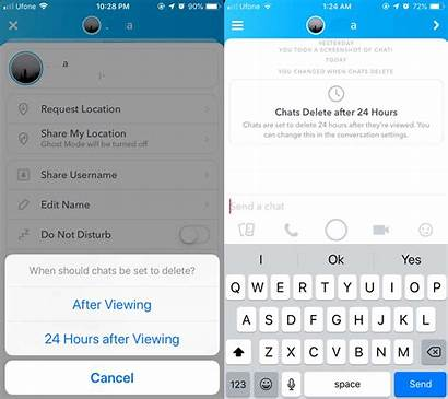 Snapchat Change Messages Message Expire Chats Hour