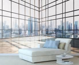 papier peint panoramique trompe l oeil vitre avec perspective