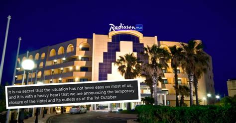 St Julian's Radisson Blu Resort Temporarily Shuts Down Due ...
