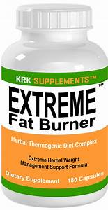 1 Bottle Extreme Fat Burner 180 Capsules Weight Loss Diet Pills Krk Supplements