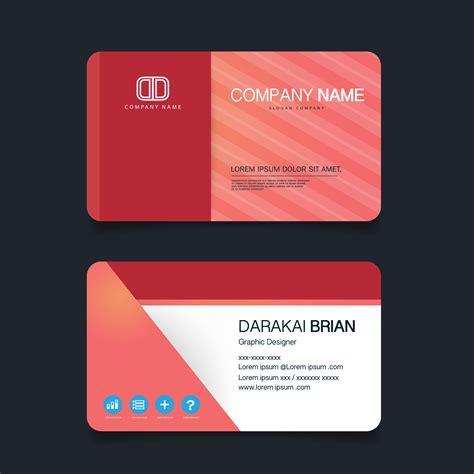 card modern simple business card template vector