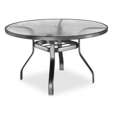 homecrest glass 48 quot dining table 1749501