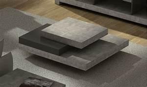 Table Basse En Beton : table basse design slate beton et noire table basse design pour salon ~ Farleysfitness.com Idées de Décoration