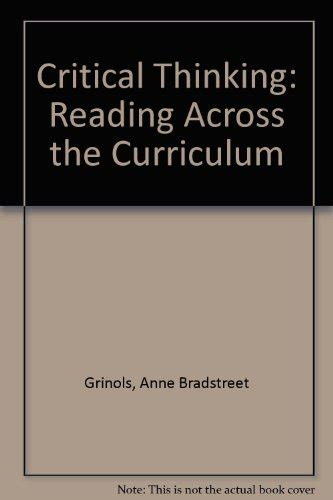 Critical Thinking Reading Across The Curriculum  9780801492815 Slugbooks