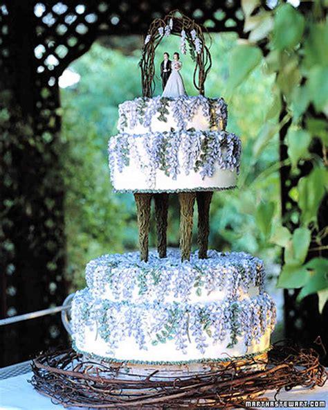 blue  purple wedding cakes martha stewart weddings