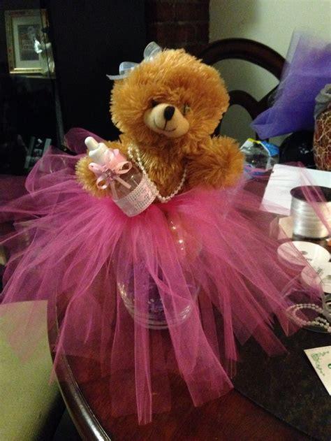 teddy bear baby shower centerpieces tutu cute theme