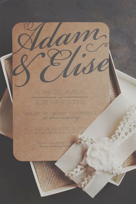 ideas  rustic wedding invitations