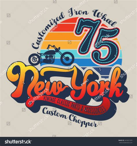 graphic design nyc tshirt graphic design new york text stock vector 341821979