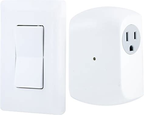 ge wall switch light remote with 1 outlet receiver wireless white ebay