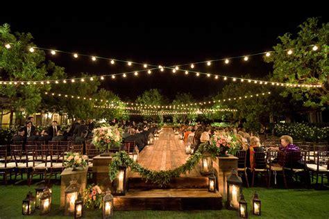 examples  nighttime wedding ceremony decor