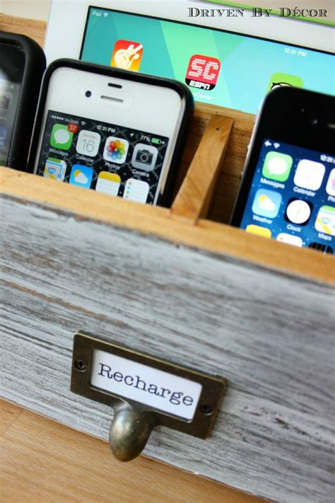 diy family charging station driven  decor