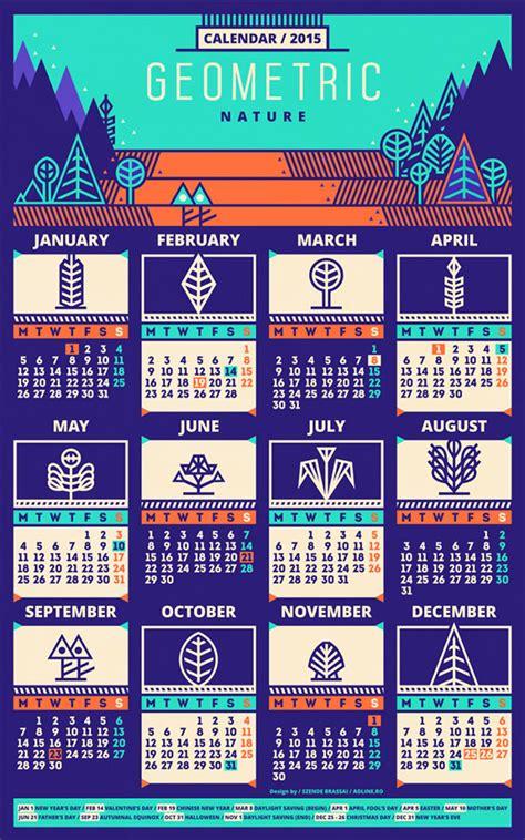25 new year 2015 wall desk calendar designs for inspiration