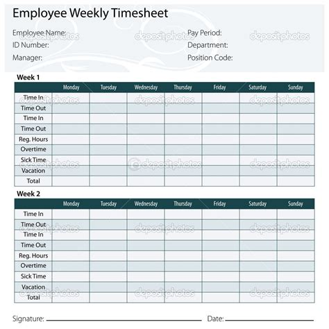free printable timesheet templates timesheet template