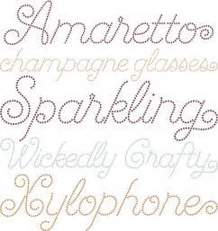 Script Font with Dots