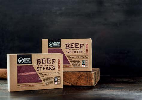 silver fern farms beef packaging  behance