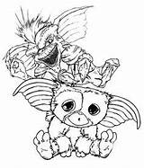 Gremlins Coloring Pages Printable Sheets Gizmo Books sketch template