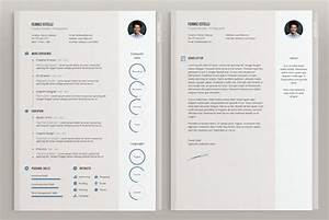 50 beautiful free resume cv templates in ai indesign With cv template illustrator