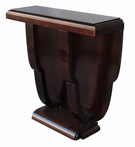 Console Verre Et Bois : console bois noirci 1930 art d co dessus verre consoles anciennes ~ Teatrodelosmanantiales.com Idées de Décoration