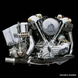 No 31  Classic Harley Davidson Knucklehead Motorcycle