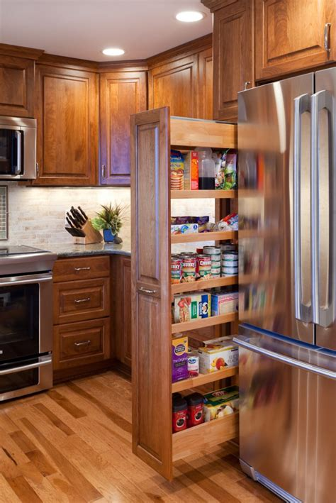 kitchen pantry cabinet with pull out shelves four great kitchen remodeling details c r remodeling 9824