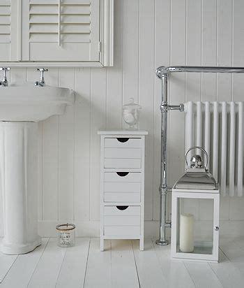 portland narrow white bathroom storage   drawers