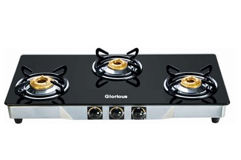 Glorious 3 Burner Gas Stove With Glass Top Cook Top With