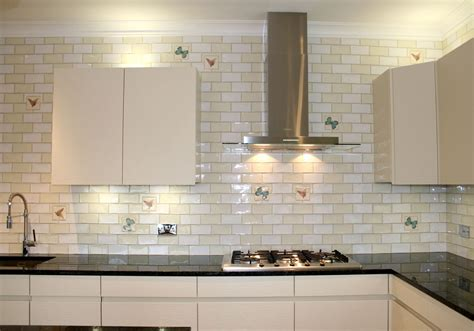 Decorative White Glass Tile Backsplash Home Design Ideas