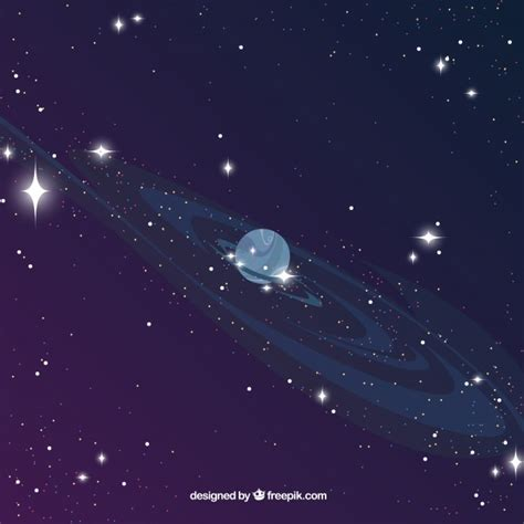 Universe Background Universe Background With Planet Vector Free