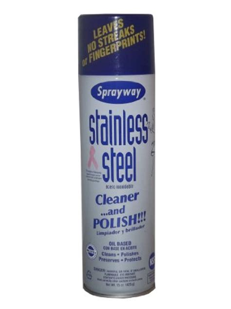 sprayway stainless steel cleaner and