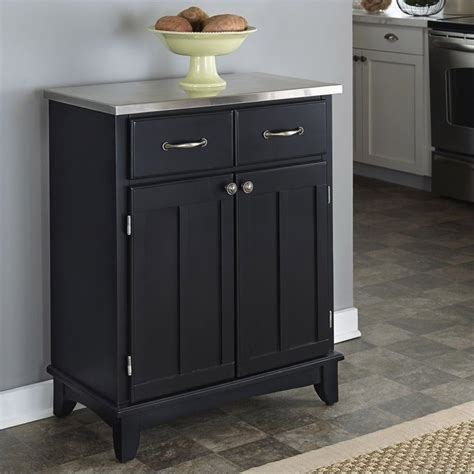 Black Sideboards by Furniture Black Wood Buffet With Stainless Steel Top