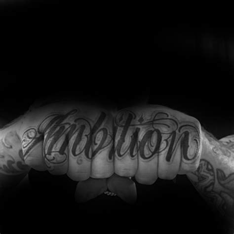 ambition tattoo design ideas  men word ink ideas